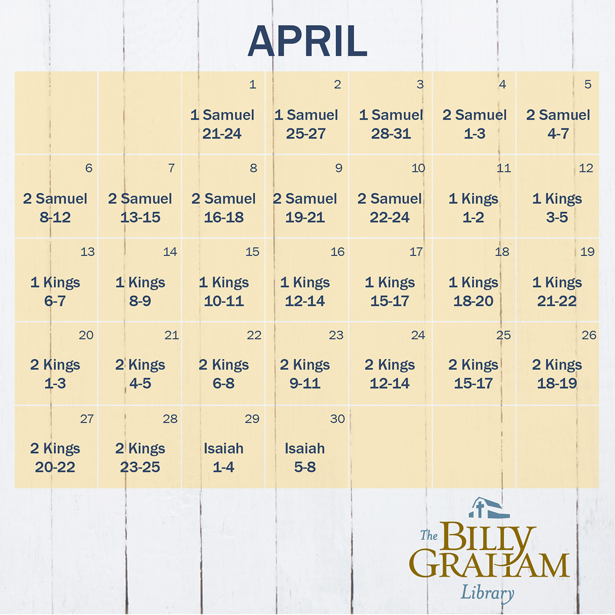 April Reading Calendar : Daily bible reading plan april letters from the